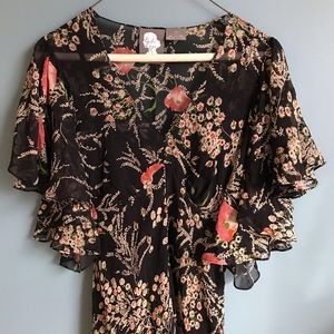 Beautiful Floral Anthropologie Dress